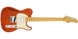 G&L Tribute ASAT Classic Bluesboy Semi-Hollow i Clear Orange