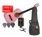 Cataluna 3/4 Junior Klassisk Guitarpakke - Pink