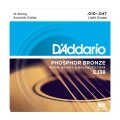 D\'Addario EJ38 Phosphor Bronze Light .010-.047 (12-strengs)