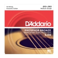 D\'Addario EJ39 Phosphor Bronze Medium .012-.052 (12-strengs)